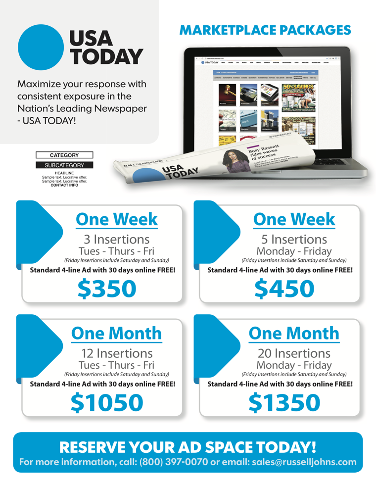 USA Today Market Place Packages